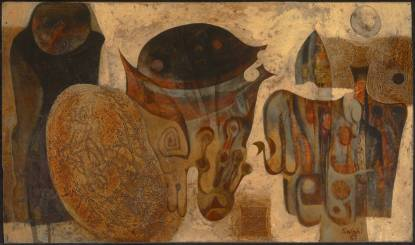 Untitled 1967 Ibrahim El-Salahi born 1930 Presented by the artist 2013 http://www.tate.org.uk/art/work/T13736