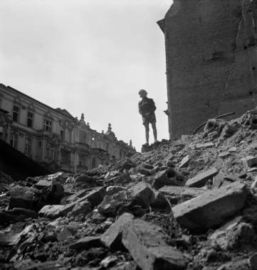 Lost world … a boy amid the rubble of Berlin. Photograph: Roman Vishniac